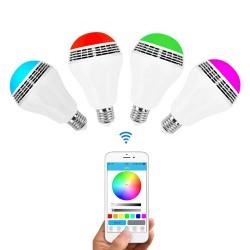 Ampoule LED mutilcolore avec haut-parleur