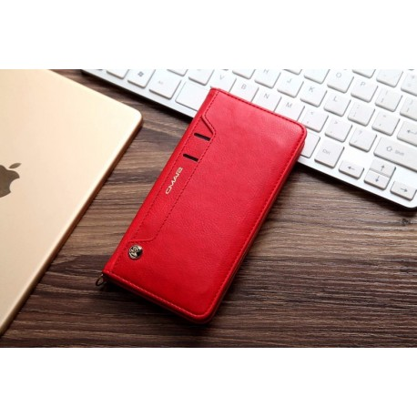 Étui en cuir avec porte-cartes pivotant pour téléphone