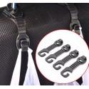 4 crochets pour siège de voiture