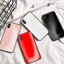 Étui en verre trempé de couleur pour iPhone