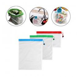 3 sacs réutilisables pour fruits et légumes
