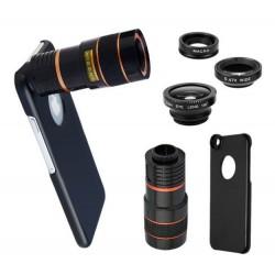 Étui à téléphone avec 3 lentilles photographiques