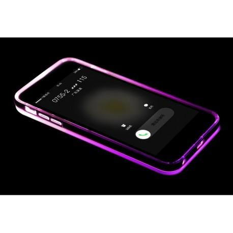 Étui lumineux en silicone pour iPhone